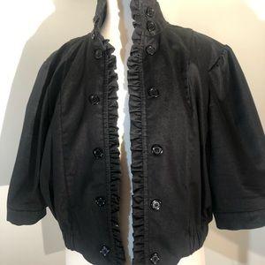 Ashley Stewart Black Open Front Jacket; size 16W